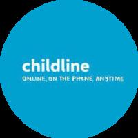 Childline blue round